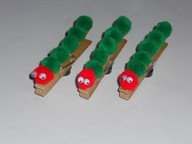 Caterpillar Hungry clothespin.  Finally a hungry caterpillar craft that is both cute and could be finished during story time!