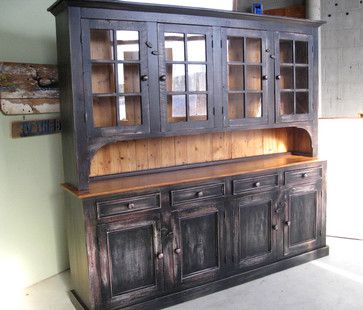 Black Country Hutch Built In Large Reclaimed Wood Hutch