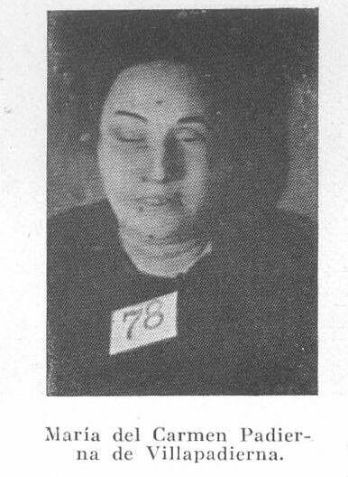 Maria del Carmen Padierna de Villapadierna, asesinada en Madrid en los primeros días de la guerra