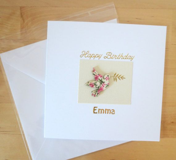 Personalised birthday card for her Birthday cards for her