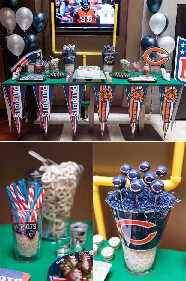 Edible Game Day Pinterest Table! NFL's amazing new HOMEGATING collection has great ideas for hosting a football party in your living room!