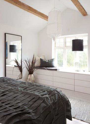 Slaapkamer: Zwart-Wit-Bamboo Malm kast #IKEAcatalogus