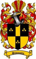 $8.99 Simmons Family Crest / Simmons Coat of Arms - Download Family Crests