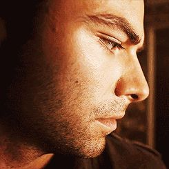 Aidan Turner looks up and we wonder why he is so angry.  And how he got that scar. And why he never shaves. And what he is looking at. And why we are spending all this time wondering about Aidan Turner.