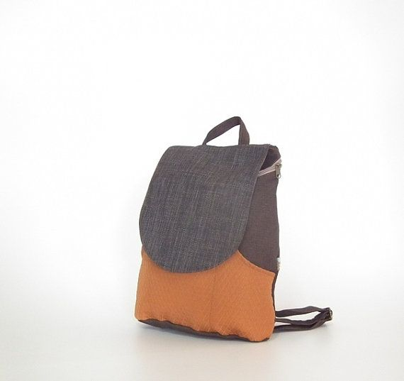 Canvas Laptop backpack  Black & Orange backpacks for by Badimyon