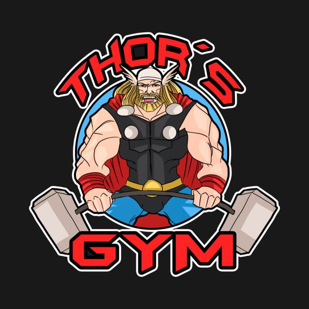 Check out this awesome #Thor #Gym #Bodybuilding #Shirt @ https://www.teepublic.com/t-shirt/290208-thors-gym?aff_store_referral_id=756