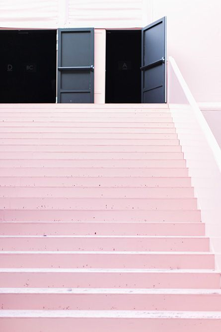 Pink stairs. @thecoveteur