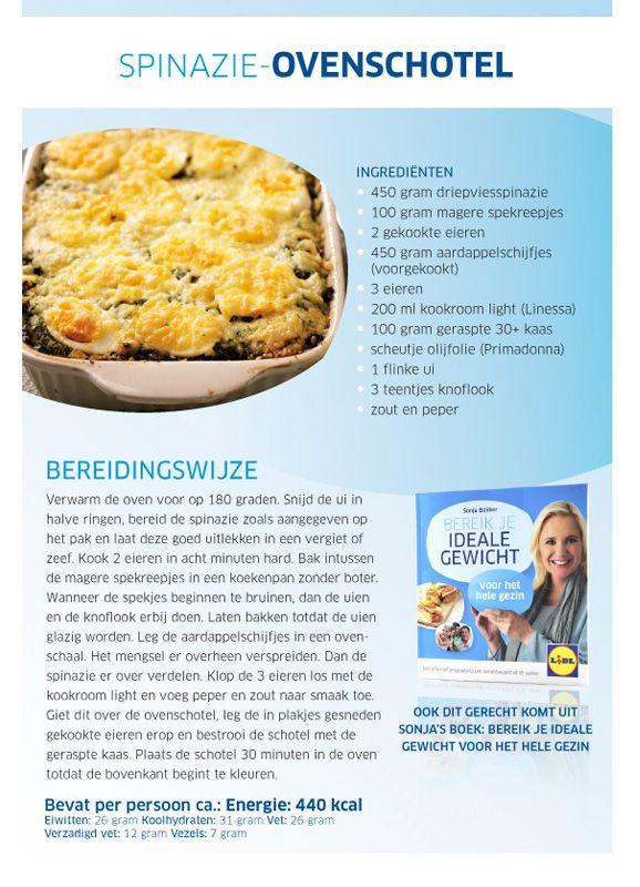 Spinazie-ovenschotel - Lidl Nederland