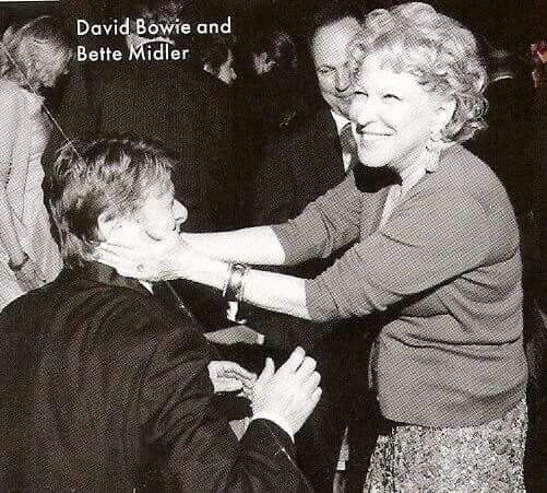 #they seem like they really got along #I need some bowie/midler stories #bette midler #10s