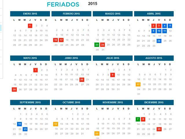 calendario 2018 colombia excel