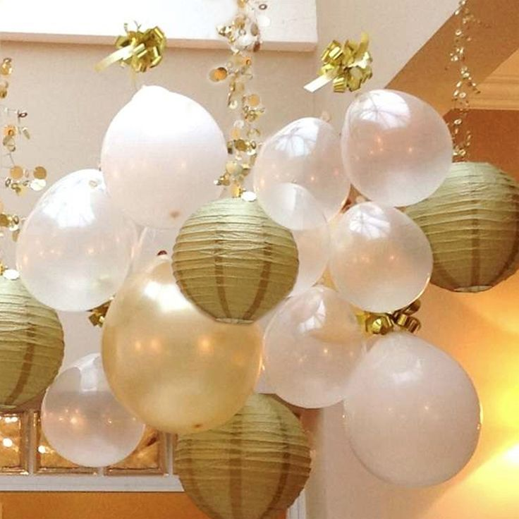 Metallic Gold and Silver paper lanterns add a touch of class to any occasion!