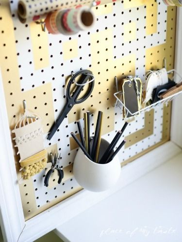 57607d3eb147a02f6a5702d1b1e12ff9 desk organization gold paint 50 best make it with pegboard images on pinterest at home, craft  at mifinder.co