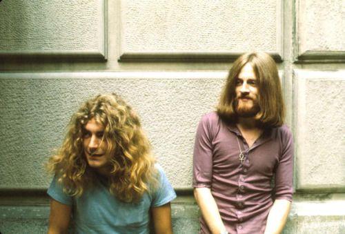 """  Robert Plant and John Paul Jones backstage at the Fillmore East, 1969. """