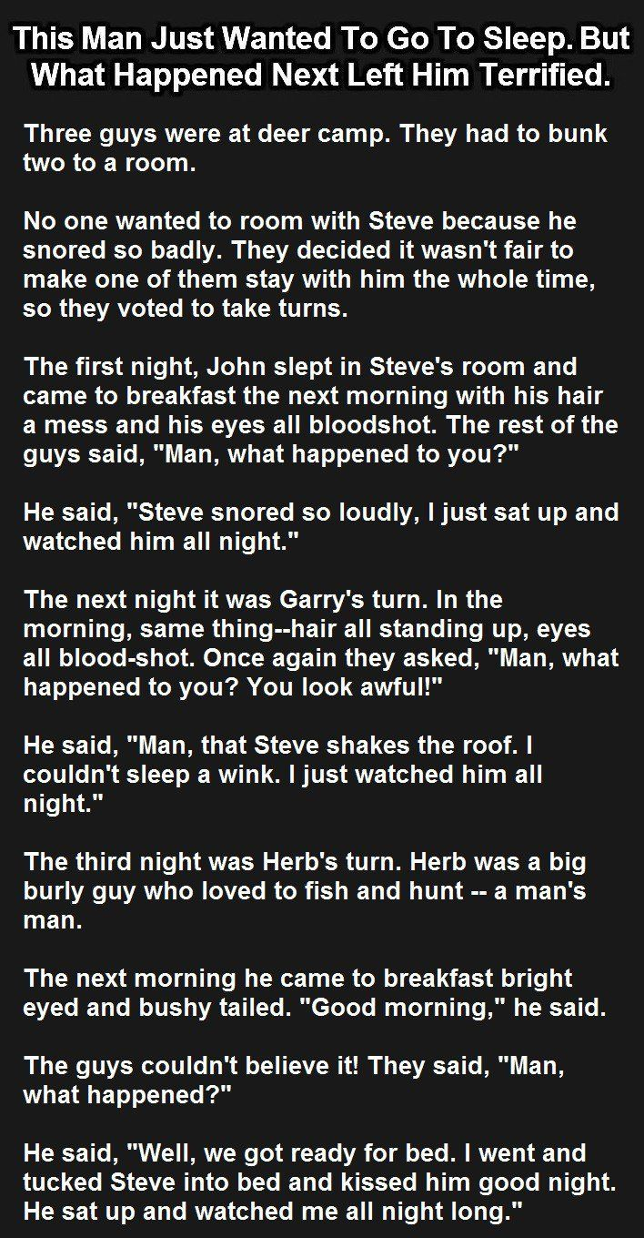 Wonderfully funny joke, because my ex is named Steve and he DID snore like a freight train!