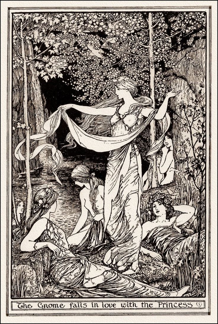 Henry Justice Ford ~ The Gnome Falls in Love with the Princess ~ The Brown Fairy Book ~ 1904 ~ via The Pictorial Arts
