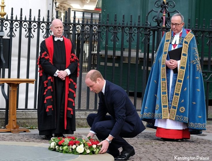 """From The Evening Standard's story:    Prior to the service, the Dean of Westminster the Very Rev John Hall told the BBC the attack was """"senseless"""" and said the service will be one of hope to bring communities together. Prince William laid a wreath at the Abbey's Innocent Victims Memorial service. Kensington Palace"""