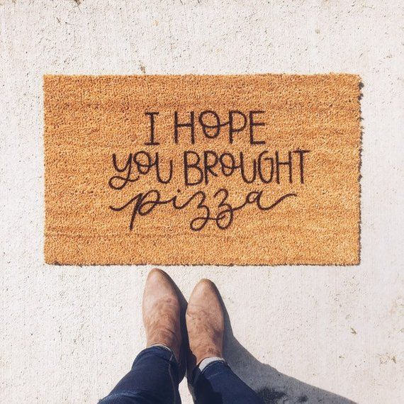 Pizza Welcome Mat Christmas Gift Ideas Funny Christmas Gifts