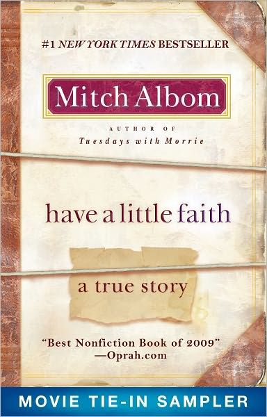 """A Short Blog about Mitch Albom's Book...Have A Little Faith in """"Have a Little Faith"""""""