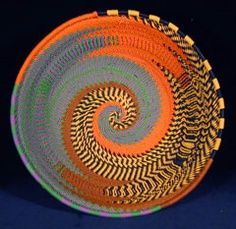 Fabric Wrapped Rope Baskets | Zulu telephone wire basket
