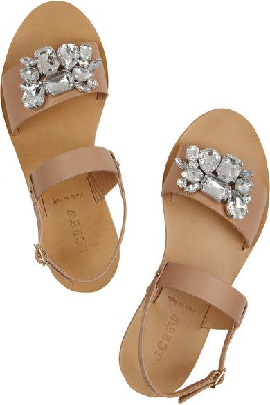 Love these jeweled sandals from J.Crew! So pretty for spring and summer!