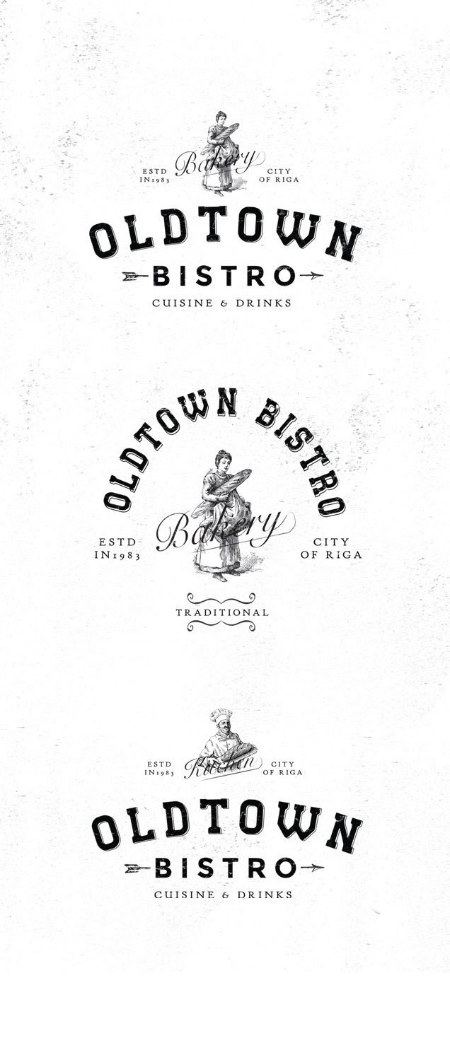 Modern vintage logo design for bistro.