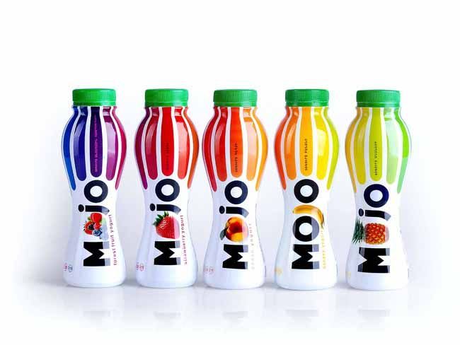 Fruit flavoured drinking yoghurt - part of the MOJO range of fruit flavoured dairy products