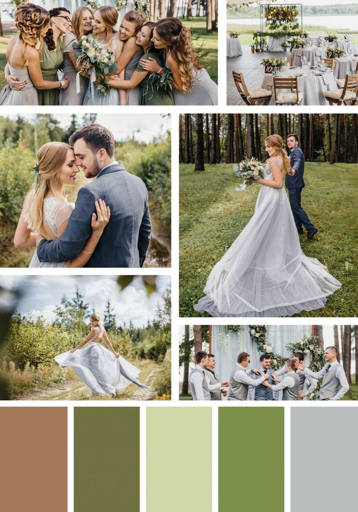Rustic Green and Gray