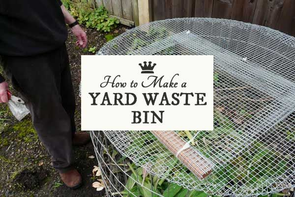 DIY compost bin made from hardware cloth readily available at home supply stores like Home Depot.