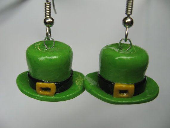 Leprechaun Hat Earrings by SaraMadeCreations on Etsy, $5.00
