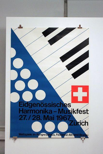 Harmonika-Musikfest 1967  Design: Kurt Huber Werbeagentur  90x128cm