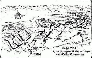 map operazione riva ridge 1945