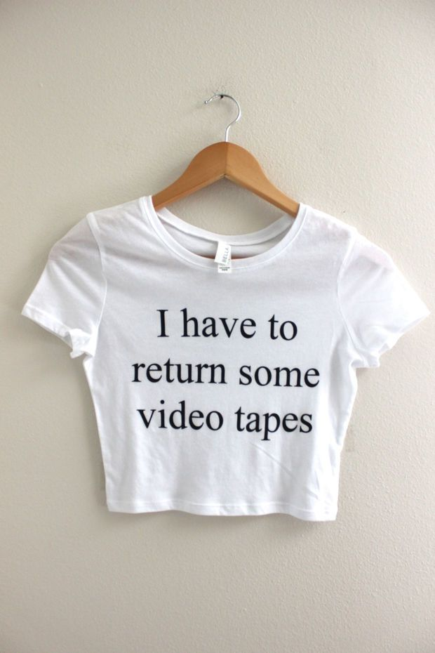 I Have To Return Some Videotapes Shirt