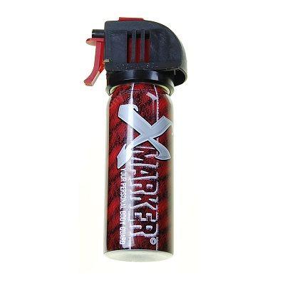 X-marker is een zelfverdedigingsspray,(Qua uitelijk zou hij verward kunnen worden door het wettelijk verboden traangas of pepperspray maar x-marker is niet verboden door de Nederlandse wetgeving). Dit houdt in dat hij alleen in noodsituaties gebruikt mag worden. http://urbansurvival.nl//index.php?action=article&aid=1603&group_id=10000284&lang=nl&srchval=X-Marker