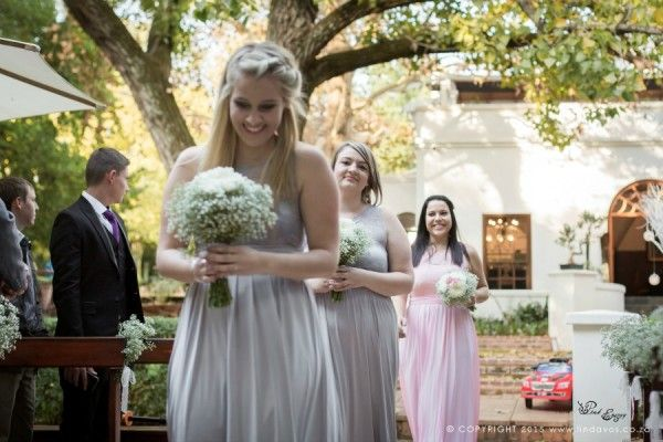 Linda Vos Photography – Walking down the aisle at Kleinkaap - Floral Design & Decor  by www.pinkenergyfloraldesign.co.za