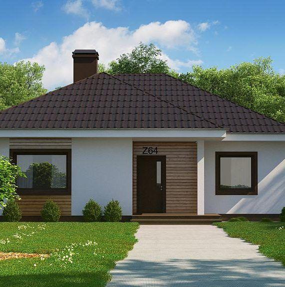 Dom Szczęśliwy Z64+ pow ok 95 m2 + zadaszony taras Domyzpaczki.pl