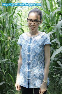 jahitan #6 : blus batik kancing shanghai