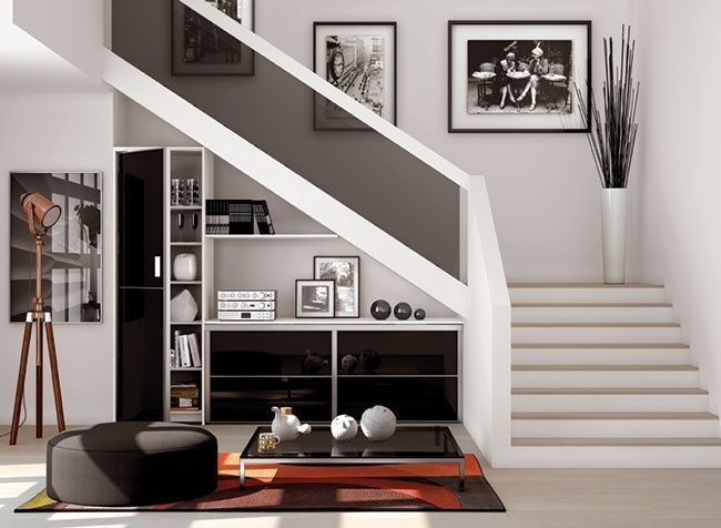 Noir Black Porte Placard Pivotante Sogal Modern Stairs In