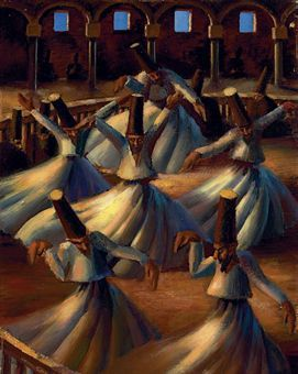"""The Whirling Dervishes"" by Mahmud Said (Painting)"
