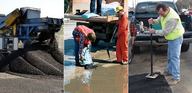 Permanent Cold Mix Asphalt works great for patching potholes and drive way approaches. Get it at Asphalt Materials in West Jordan, Utah.