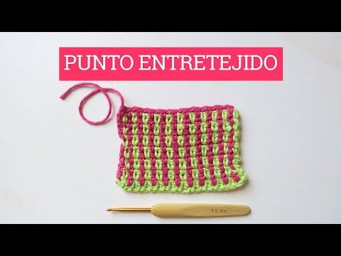 Punto entretejido en ganchillo | Crochet intertwined stitch - YouTube