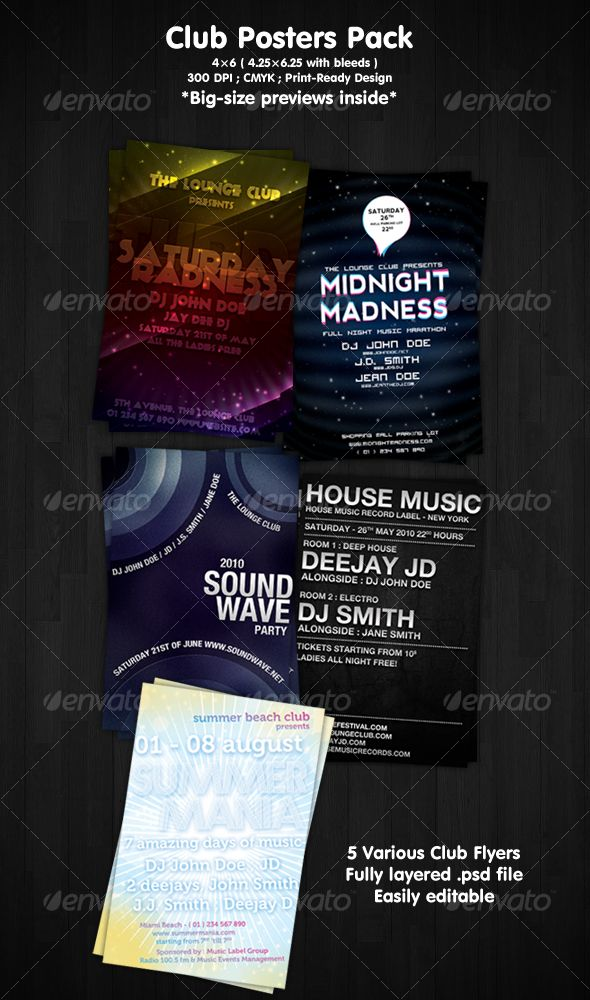Club Flyers Pack
