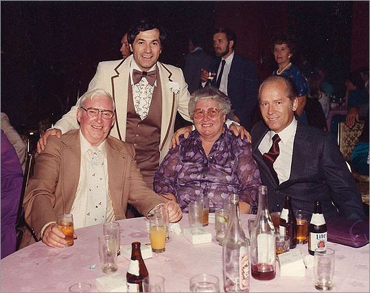 "At left, mobster Stephen ""The Rifleman"" Flemmi stood with James ""Whitey"" Bulger (far right) in 1992."