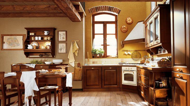 VERDIANA - L'ambiente cucina classico come spazio per riscoprire la tipicità. Uno stile fatto di cose vissute oggi con rinnovata passione, di edifici in cui i confini fra storia e tradizione si fanno sfumati, di oggetti in cui convivono arte e artigianato, di sapori che esprimono bontà e genuinità, di ruralità vissuta in armonia con una natura chiamata a scandire con i suoi ritmi il trascorrere del tempo. http://www.venetacucine.com/ita/cucine/tradizione/verdiana.php