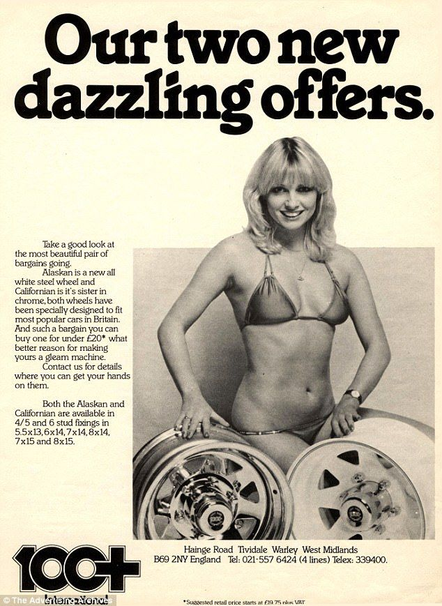 Wheely bad: They also refer to 'a beautiful pair', geddit? Even for the Seventies it was just tyresome