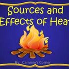 Sources and Effects of Heat POWERPOINT WITH INTERACTIVE NOTES - 3rd Science  energy, heat, evaporate, fuel, friction, temperature, thermometer, deg...