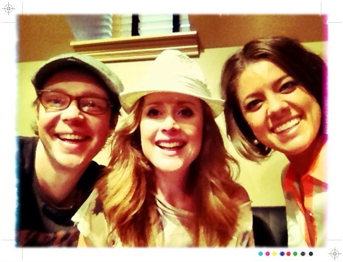 Writing a new tune with Amber Lawrence.... Lots of silliness going on around here!