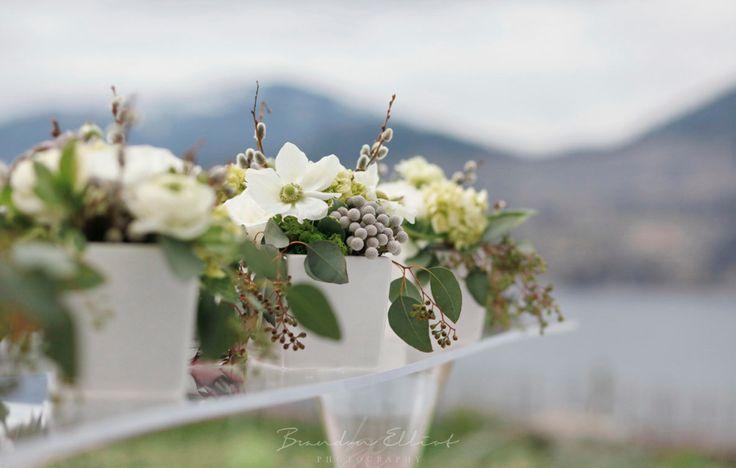Edgy Petals florals / anemones, pussy willows, seeded euc, ranunculus. Brandon Elliott Photography
