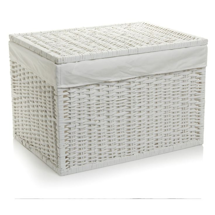 Wilko Storage Trunk Willow White