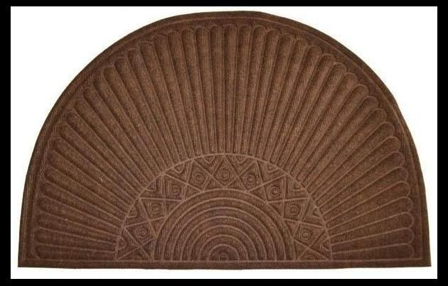 Synthetic Mat - Doormat - Semi Circle - Brown