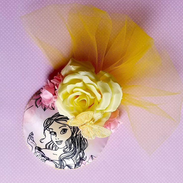 Belle Pastel Pink and Yellow Fascinator